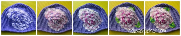 Color by color - how to cross-stitch on crochet - Colie's Crochet - coliescrochet.com