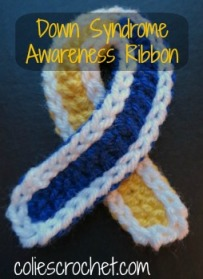 Down Syndrome Ribbon coliescrochet.com