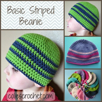 Basic Striped Beanie Colies Crochet