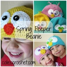 Spring Peeper Beanie-coliescrochet.com