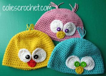 Spring-Peeper-Beanies-Colie's-Crochetdotcom-Blog