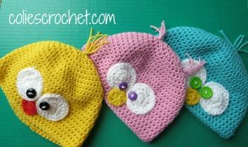 Spring-Peeper-Beanies-Slanted-Colie's-Crochetdotcom-Blog