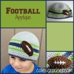 FREE Pattern Football Applique|Colie'sCrochet | coliescrochet.com