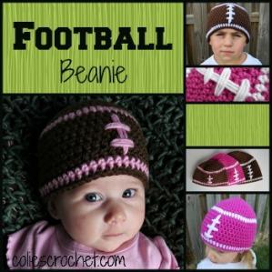 FREE Pattern | Football Beanie | Colie's Crochet | coliescrochet.com