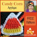 Candy Corn Applique | Colie's Crochet | coliescrochet.com