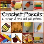 Crochet Pencils | A Roundup of Free and Paid Patterns | Colie's Crochet | coliescrochet.com
