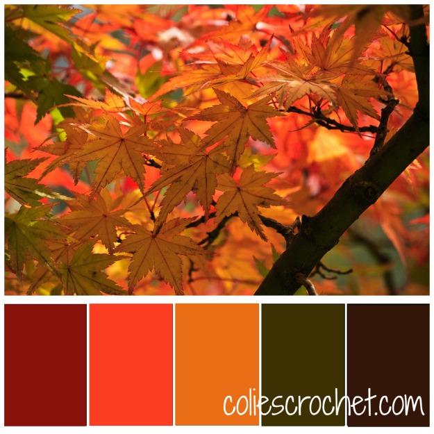 Fall Foliage Color Palette | Colie's Crochet | coliescrochet.com